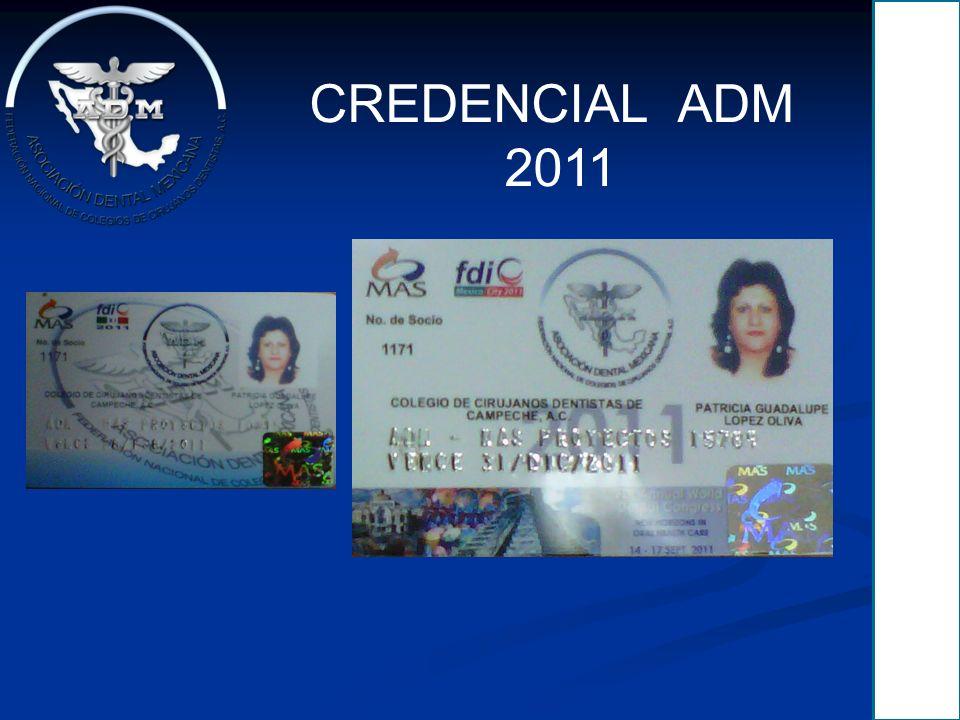 CREDENCIAL ADM 2011