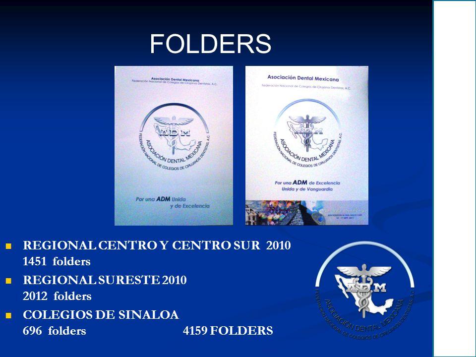 FOLDERS REGIONAL CENTRO Y CENTRO SUR 2010 1451 folders