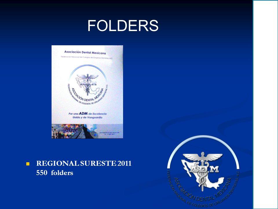 FOLDERS REGIONAL SURESTE 2011 550 folders