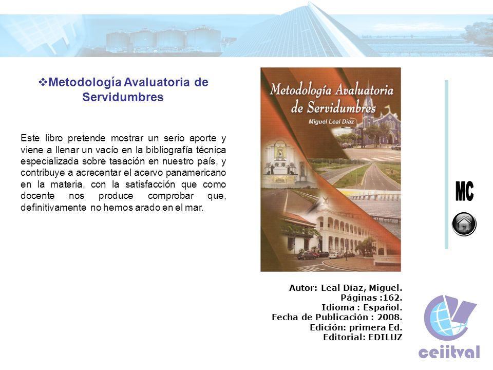 Metodología Avaluatoria de Servidumbres