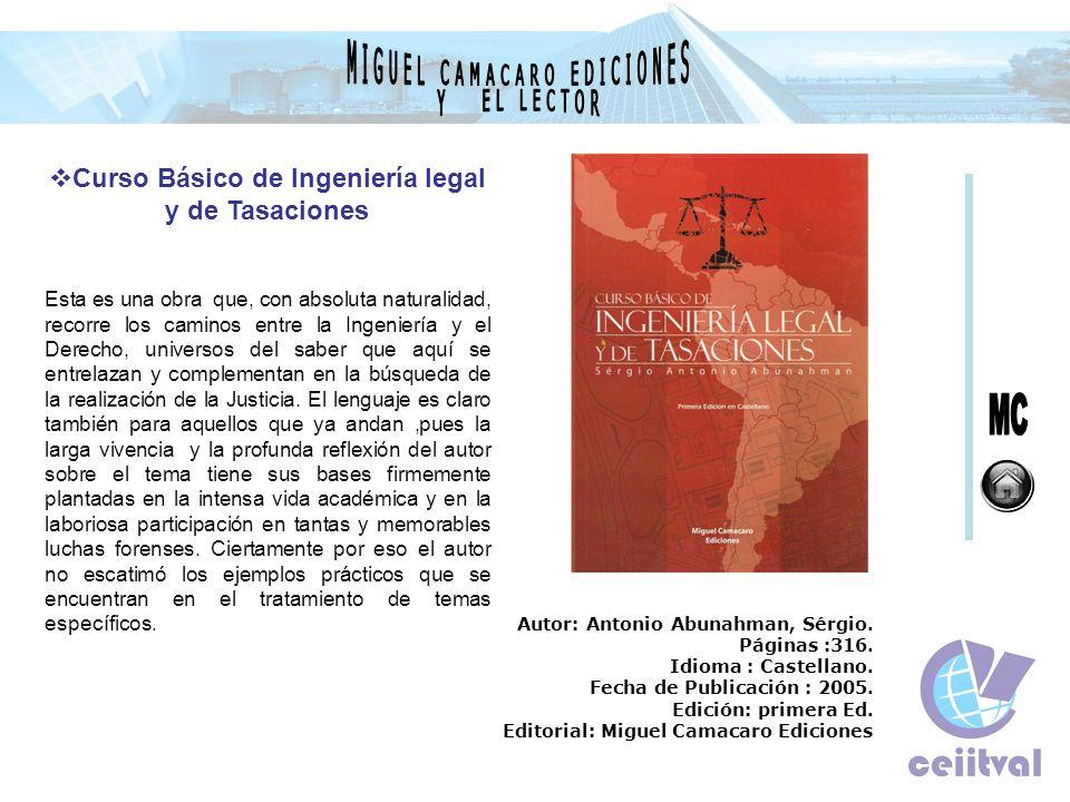 Curso Básico de Ingeniería legal y de Tasaciones