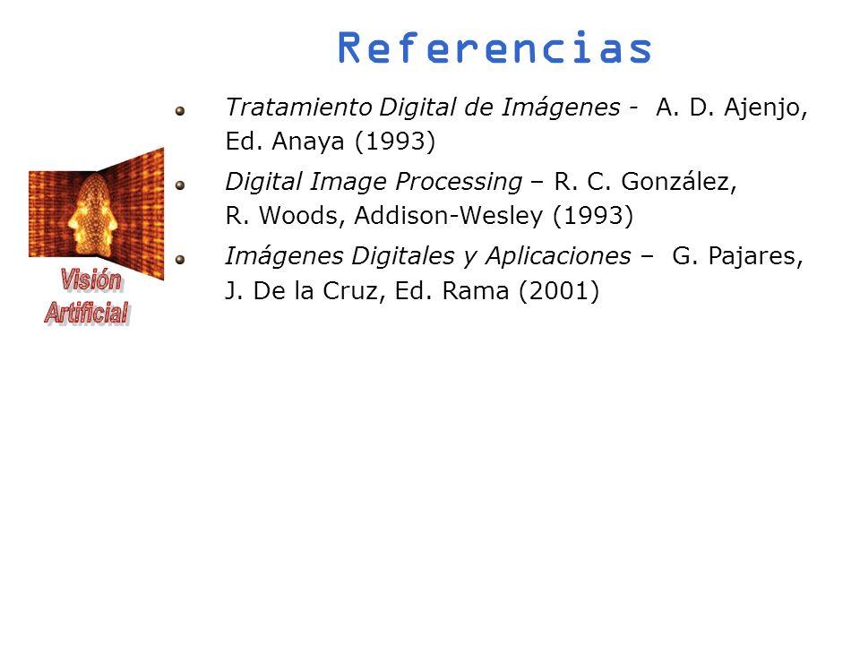 Referencias Tratamiento Digital de Imágenes - A. D. Ajenjo, Ed. Anaya (1993)