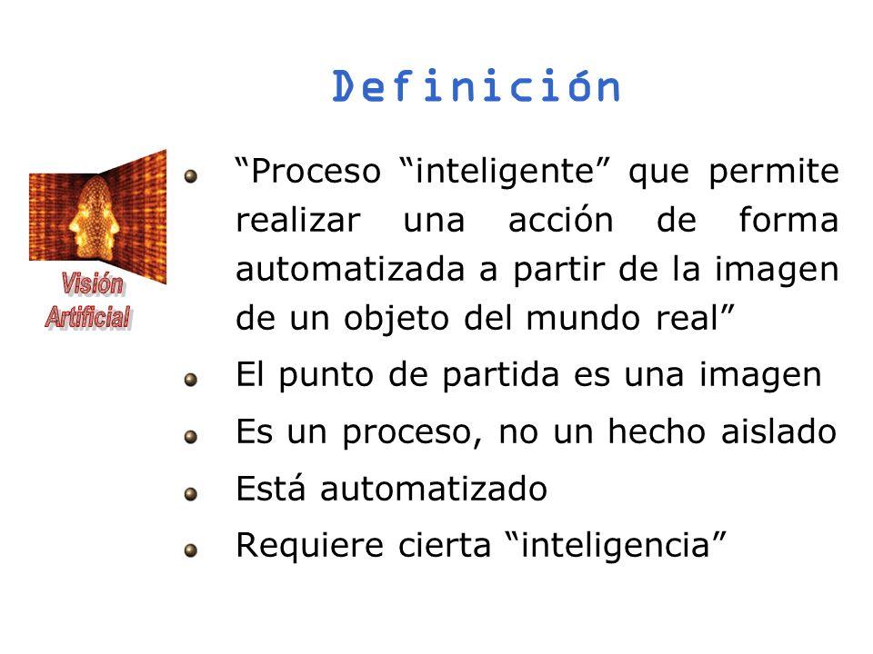 Definición Proceso inteligente que permite realizar una acción de forma automatizada a partir de la imagen de un objeto del mundo real