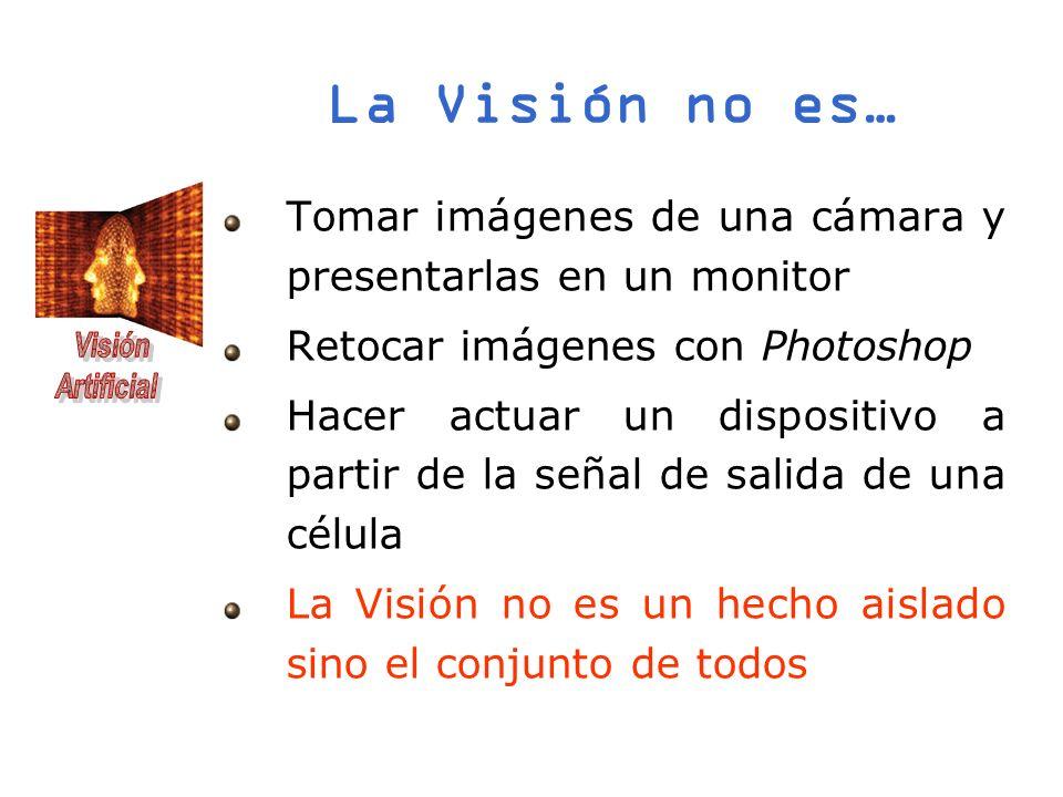 La Visión no es…Tomar imágenes de una cámara y presentarlas en un monitor. Retocar imágenes con Photoshop.