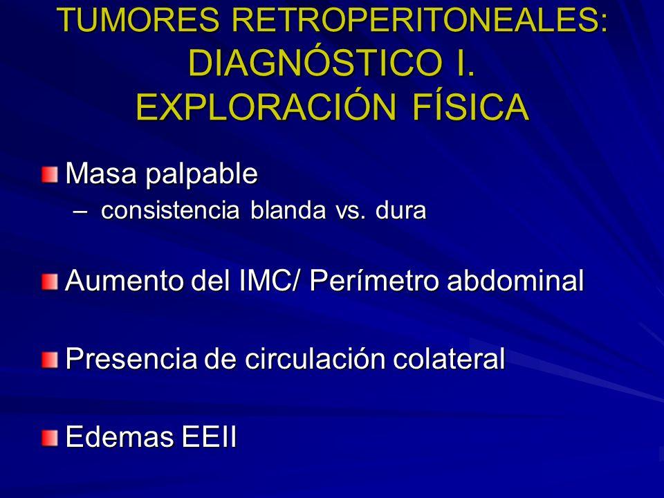TUMORES RETROPERITONEALES: DIAGNÓSTICO I. EXPLORACIÓN FÍSICA