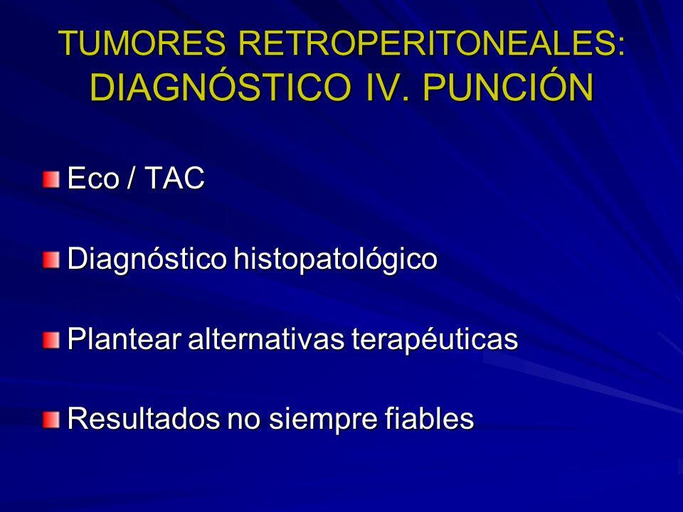 TUMORES RETROPERITONEALES: DIAGNÓSTICO IV. PUNCIÓN