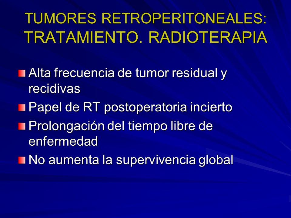 TUMORES RETROPERITONEALES: TRATAMIENTO. RADIOTERAPIA
