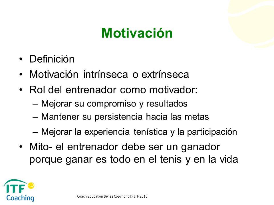 Motivación Definición Motivación intrínseca o extrínseca