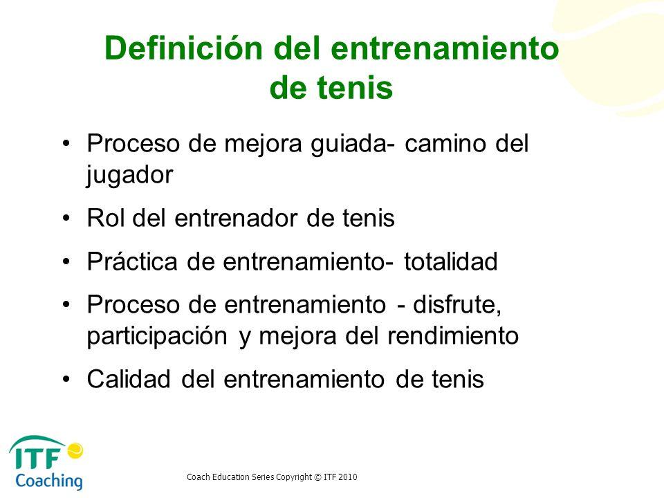 Definición del entrenamiento de tenis