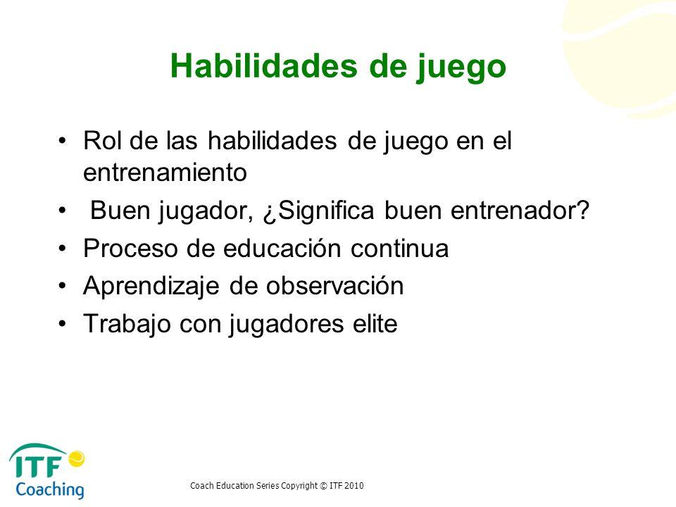 Habilidades de juego Rol de las habilidades de juego en el entrenamiento. Buen jugador, ¿Significa buen entrenador