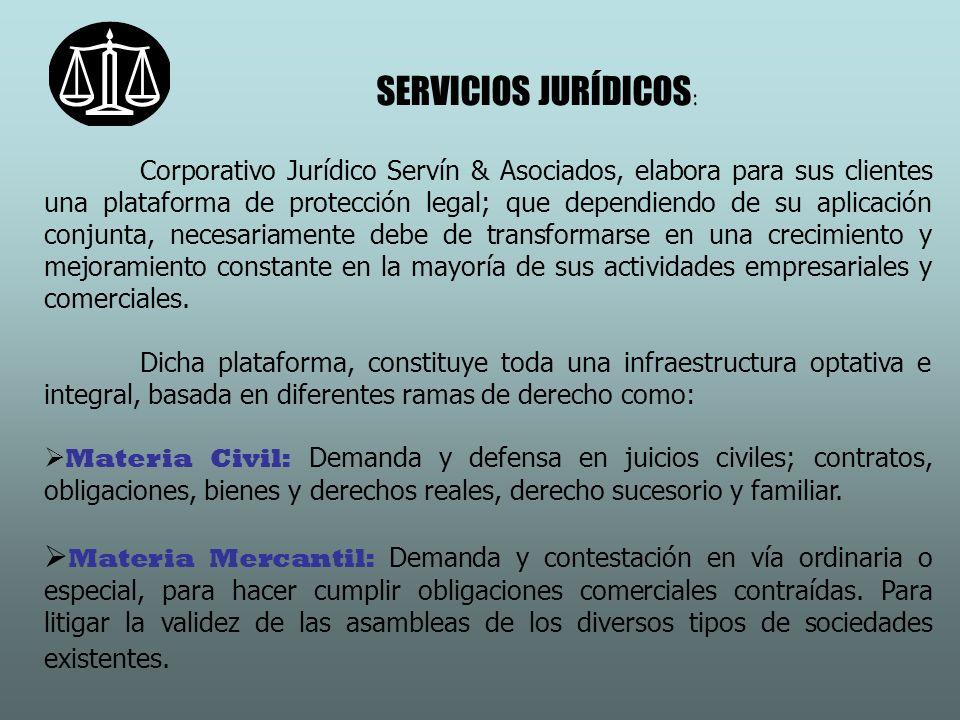 SERVICIOS JURÍDICOS: