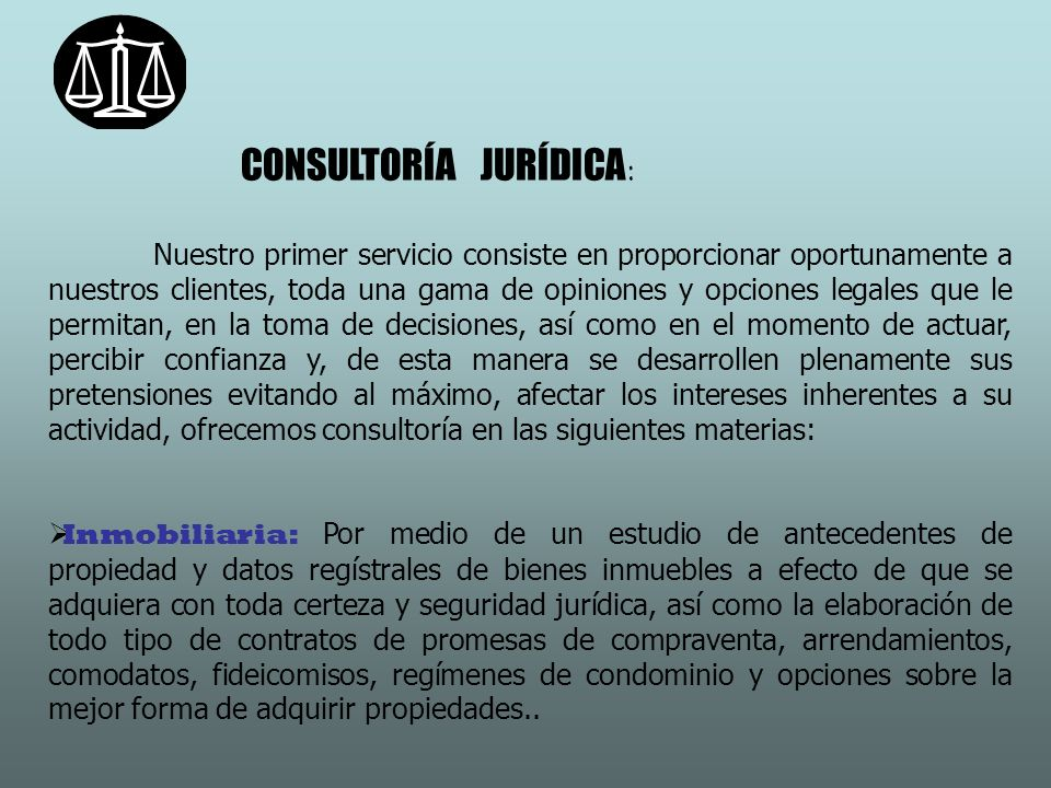 CONSULTORÍA JURÍDICA: