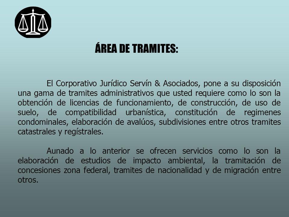 ÁREA DE TRAMITES: