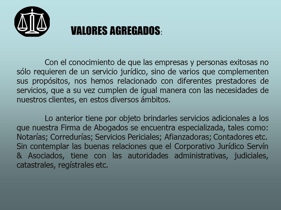 VALORES AGREGADOS: