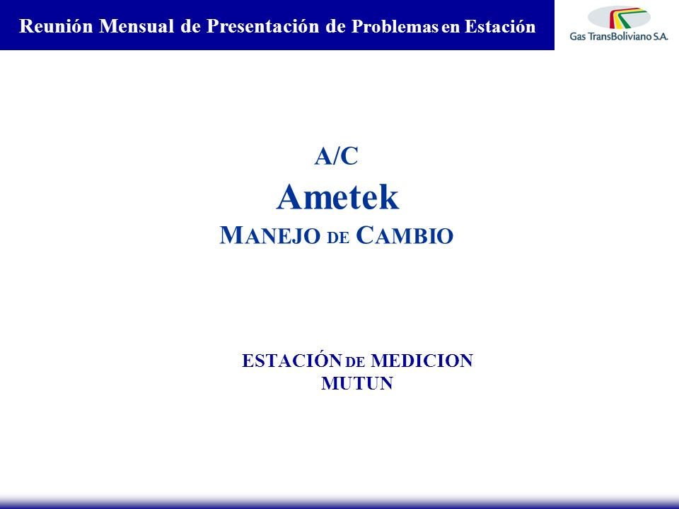 A/C Ametek MANEJO DE CAMBIO
