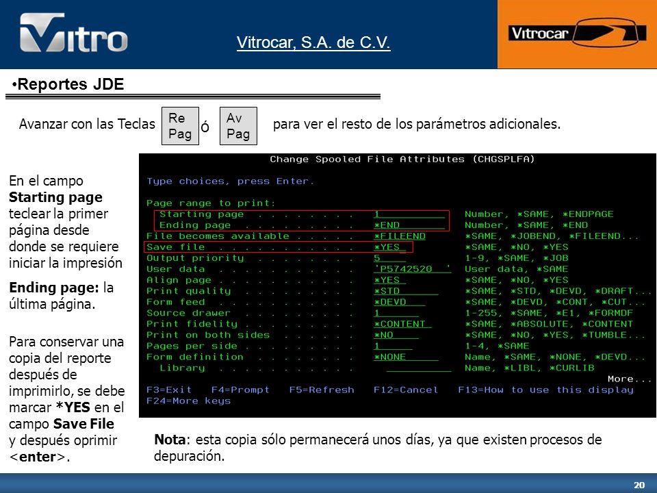 Reportes JDE ó Avanzar con las Teclas
