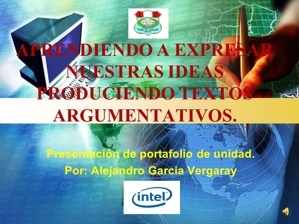 Presentación de portafolio de unidad. Por: Alejandro Garcia Vergaray