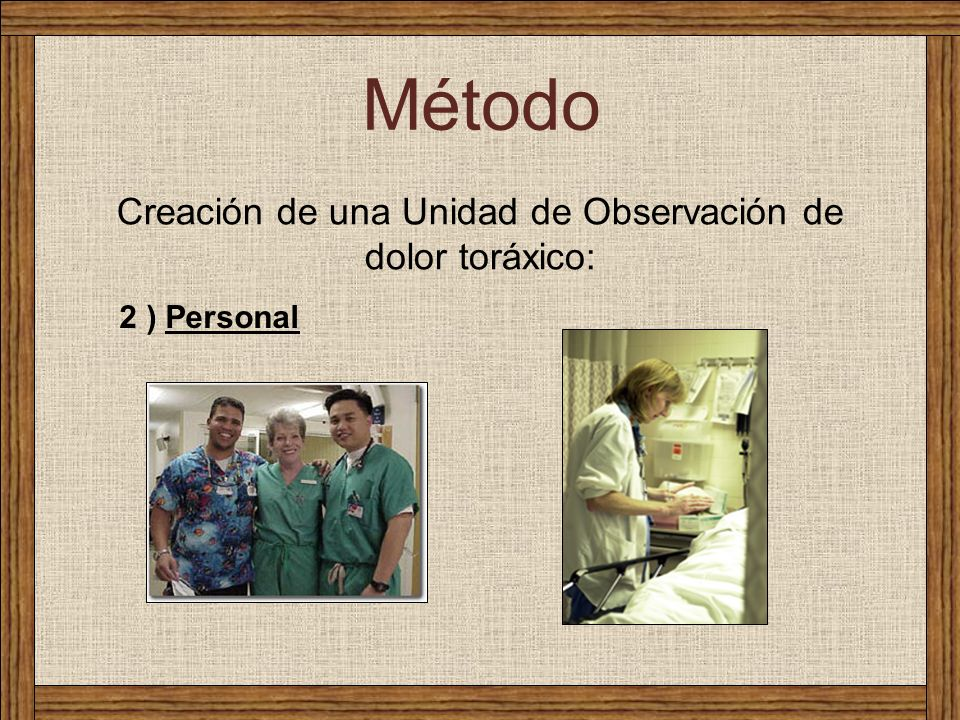 Creación de una Unidad de Observación de dolor toráxico: