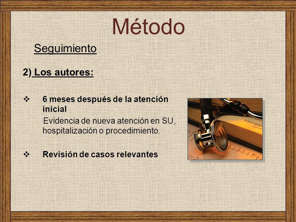 Método Seguimiento 2) Los autores: