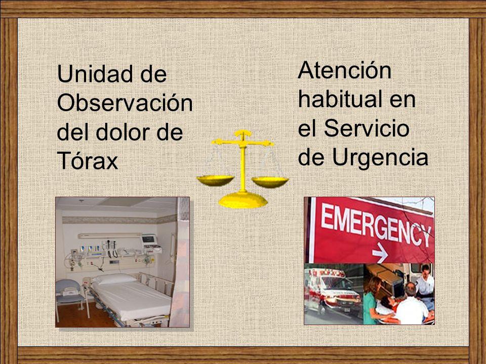 Atención habitual en el Servicio de Urgencia