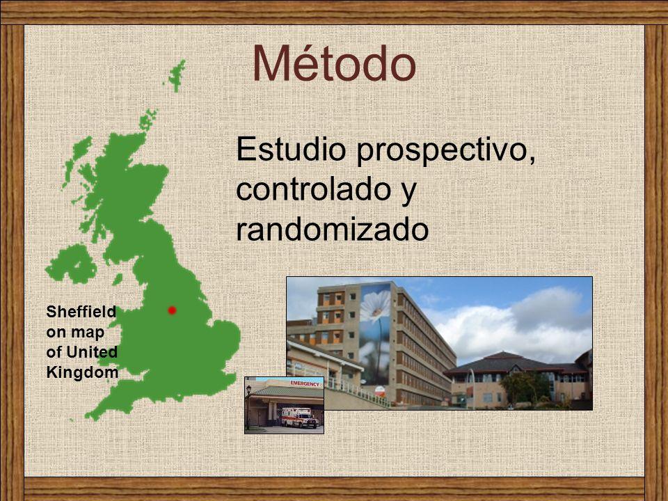 Método Estudio prospectivo, controlado y randomizado