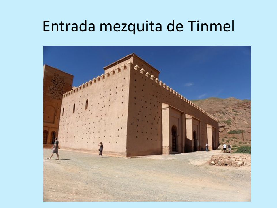 Entrada mezquita de Tinmel
