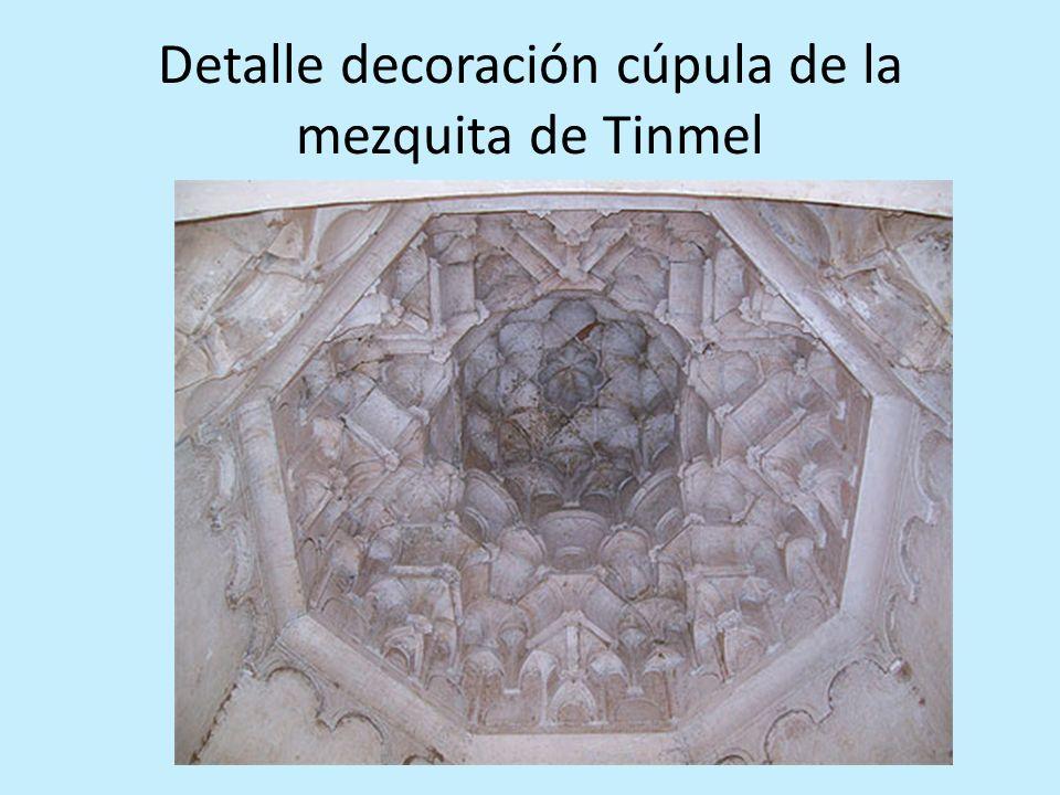 Detalle decoración cúpula de la mezquita de Tinmel