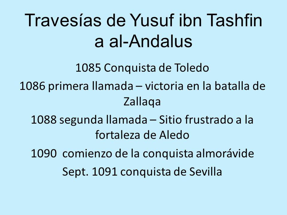 Travesías de Yusuf ibn Tashfin a al-Andalus