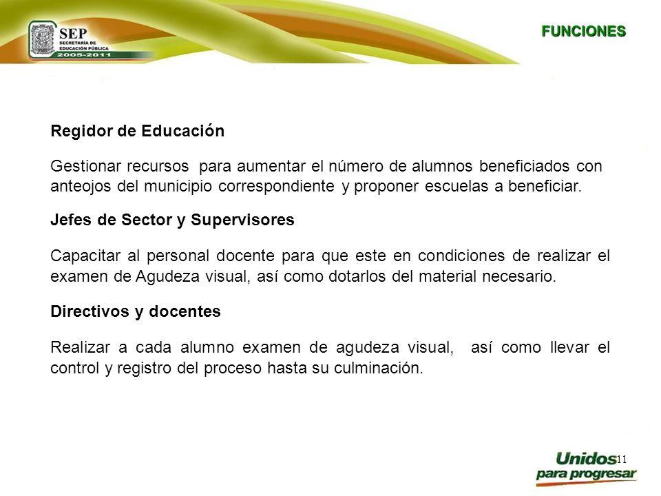Jefes de Sector y Supervisores