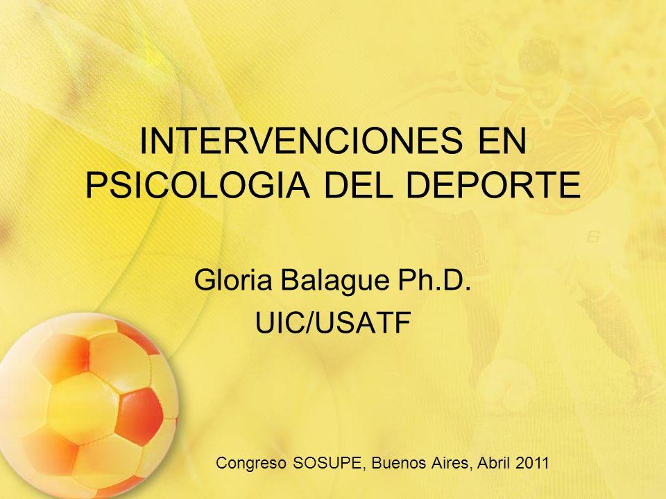 INTERVENCIONES EN PSICOLOGIA DEL DEPORTE