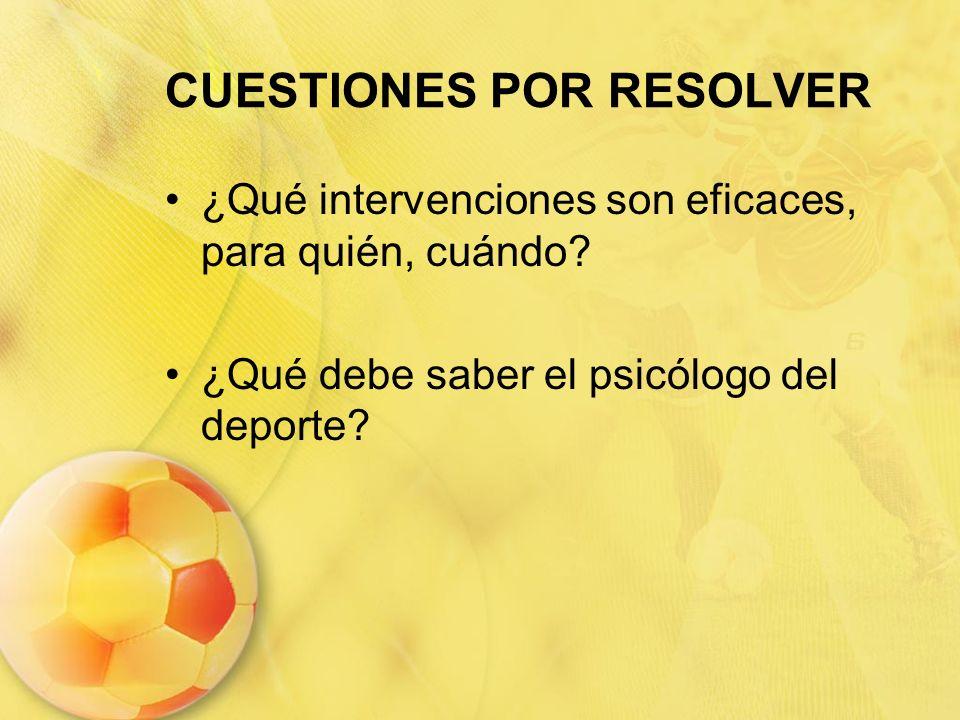 CUESTIONES POR RESOLVER