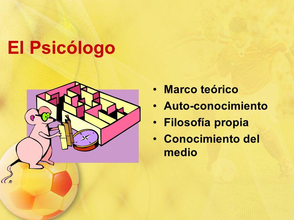 El Psicólogo Marco teórico Auto-conocimiento Filosofía propia