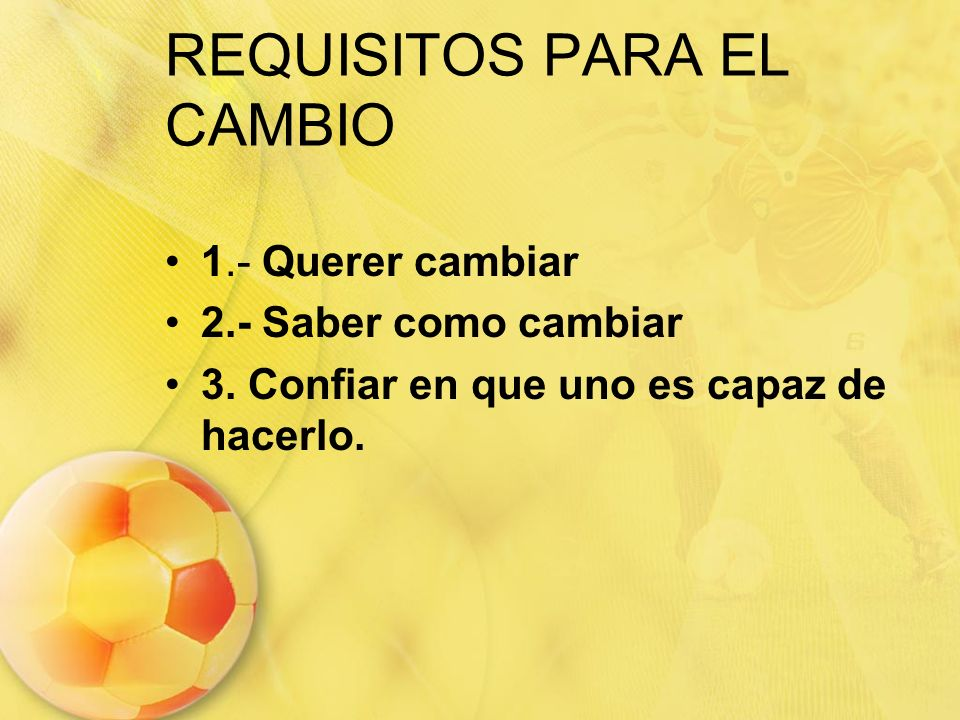 REQUISITOS PARA EL CAMBIO