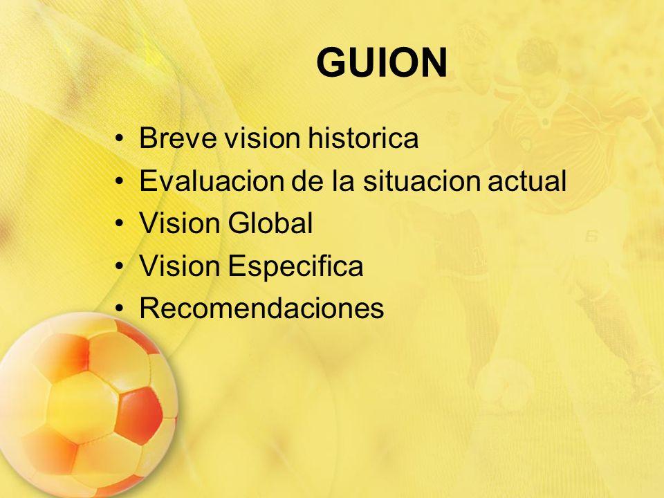 GUION Breve vision historica Evaluacion de la situacion actual