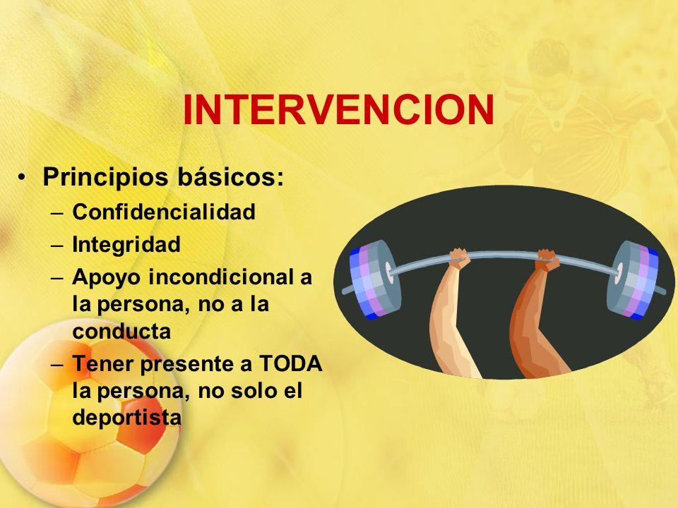 INTERVENCION Principios básicos: Confidencialidad Integridad