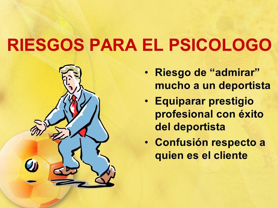 RIESGOS PARA EL PSICOLOGO