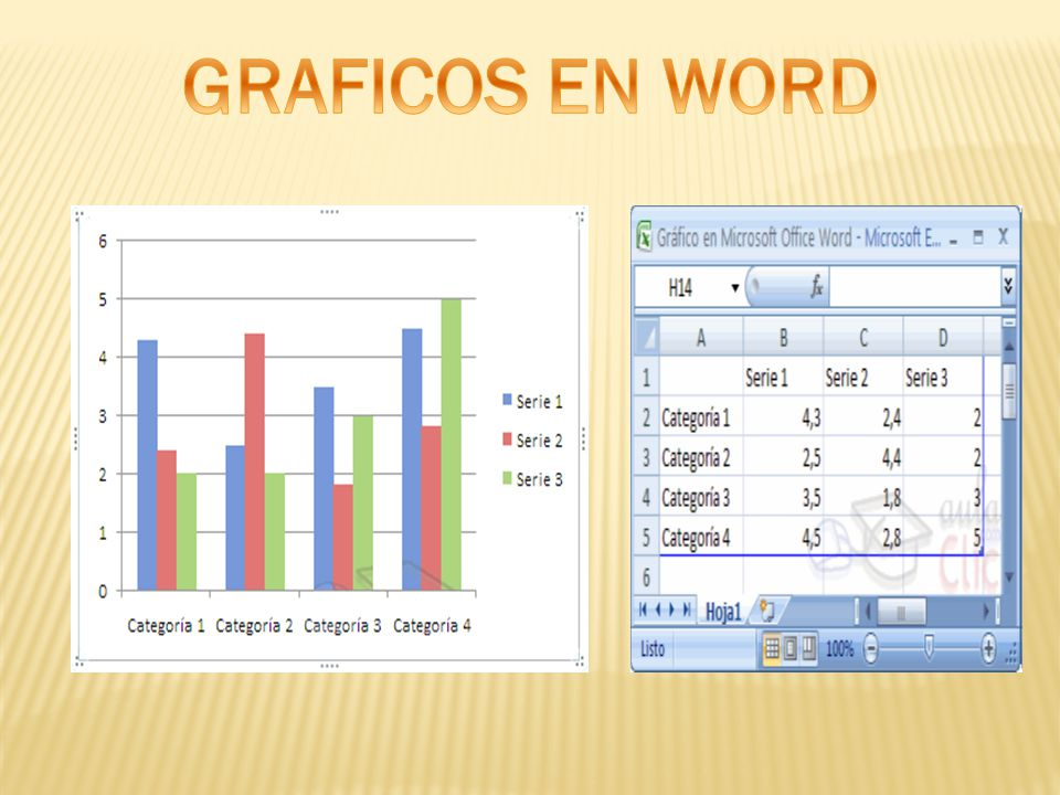 GRAFICOS EN WORD
