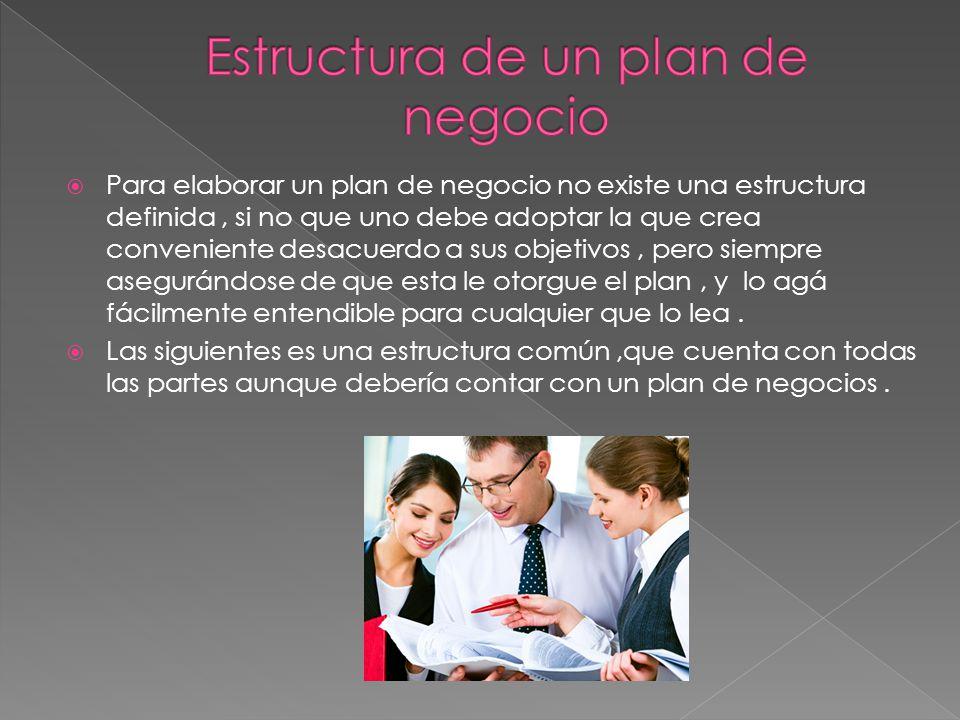 Estructura de un plan de negocio