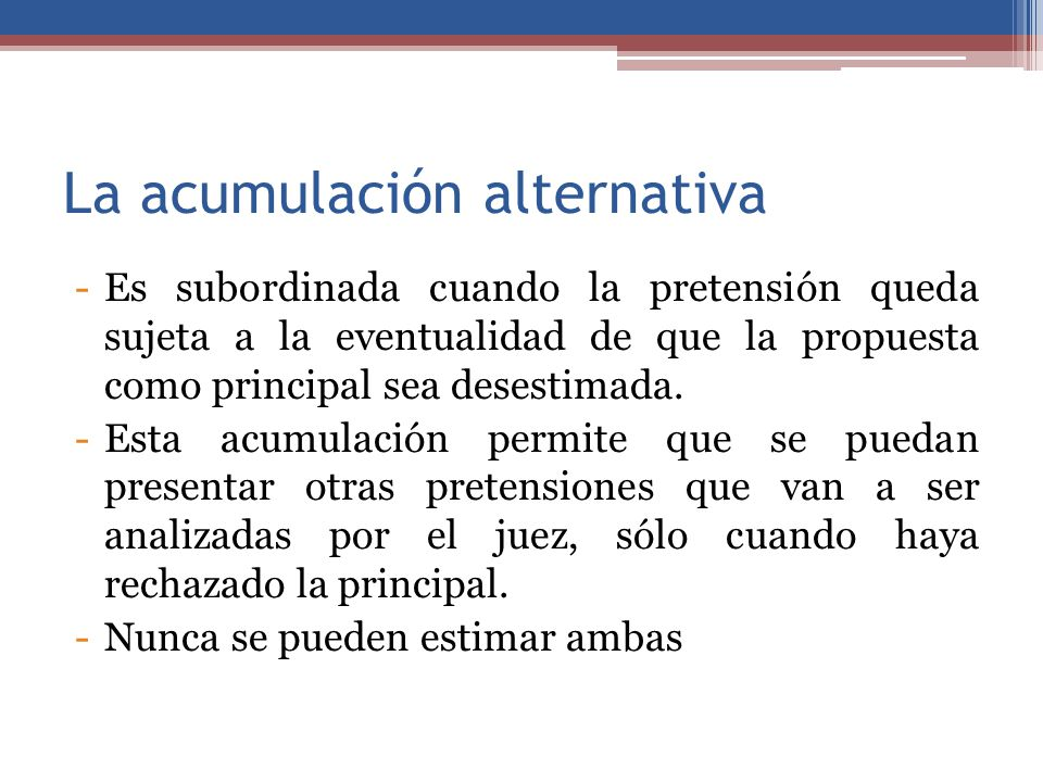 La acumulación alternativa