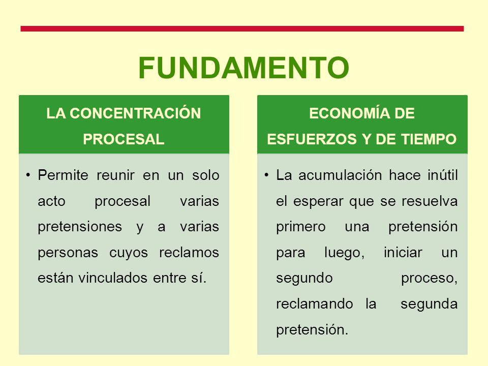 LA CONCENTRACIÓN PROCESAL ECONOMÍA DE ESFUERZOS Y DE TIEMPO