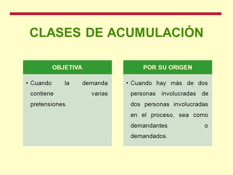 CLASES DE ACUMULACIÓN OBJETIVA