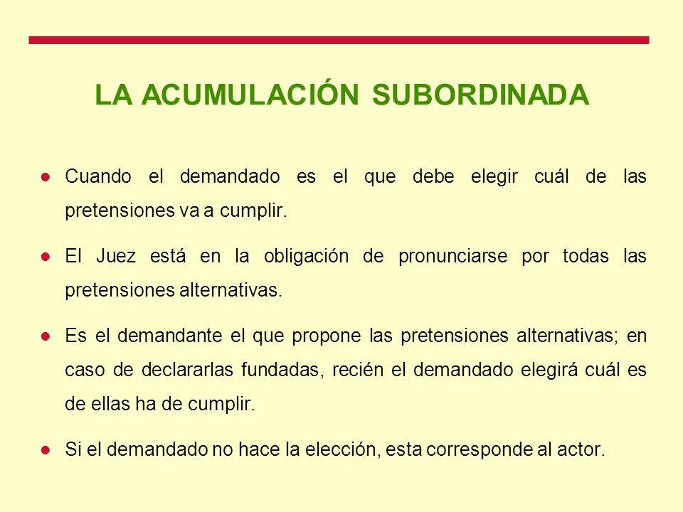 LA ACUMULACIÓN SUBORDINADA