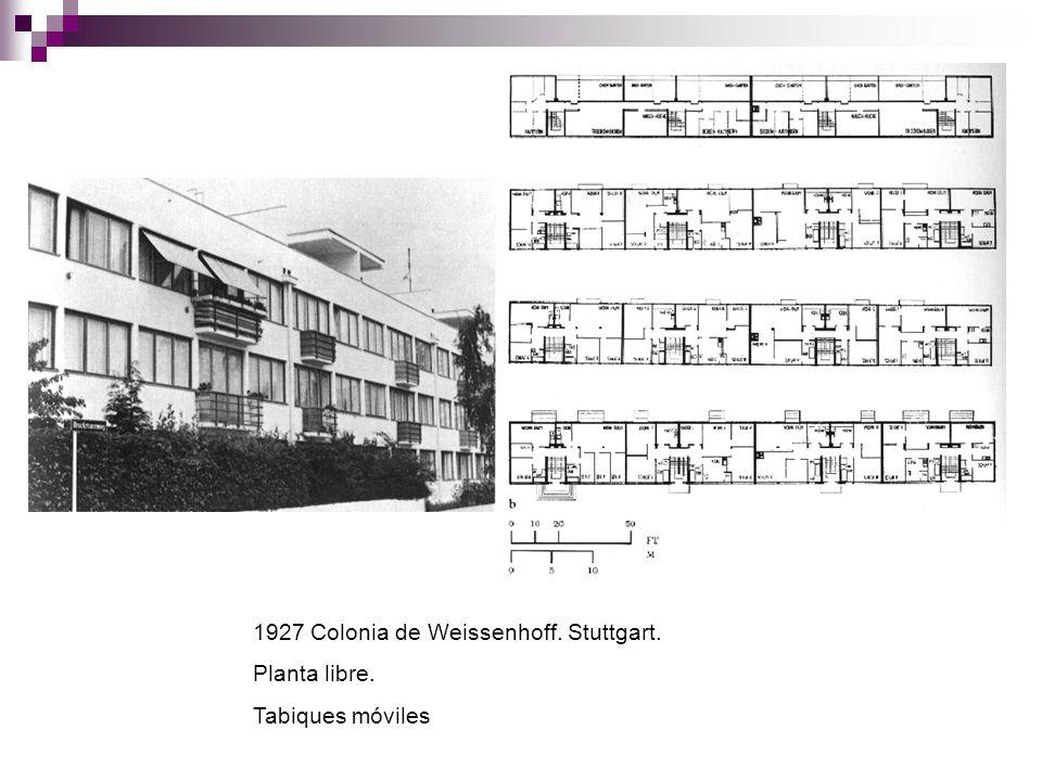 1927 Colonia de Weissenhoff. Stuttgart.