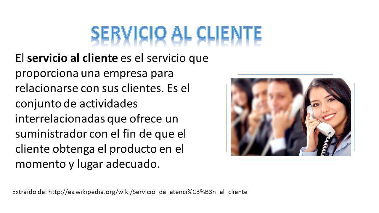 SERVICIO AL CLIENTE El Servicio Al Cliente Es El Servicio