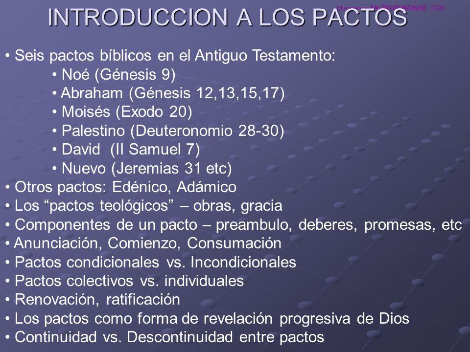 INTRODUCCION A LOS PACTOS