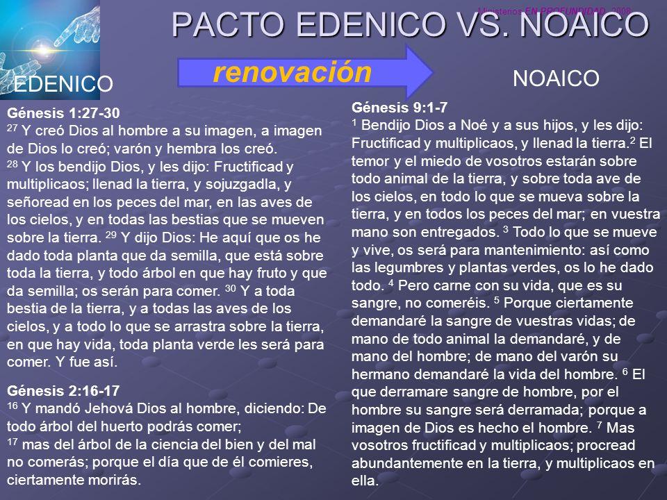 PACTO EDENICO VS. NOAICO