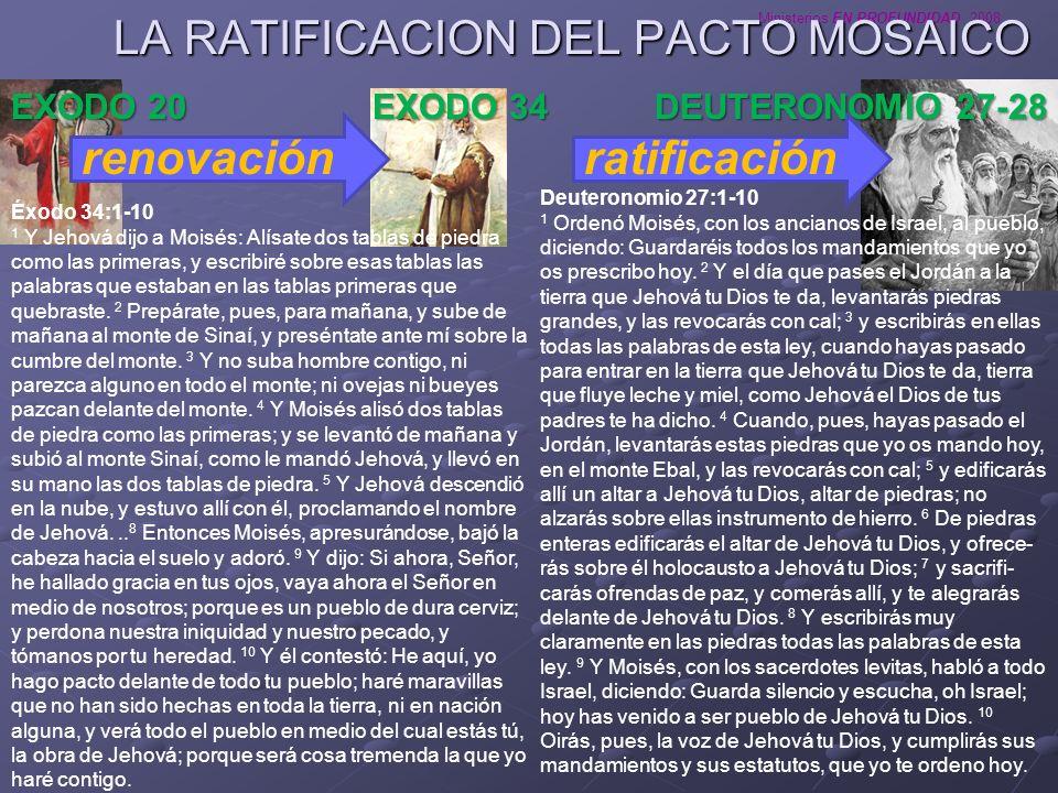 LA RATIFICACION DEL PACTO MOSAICO