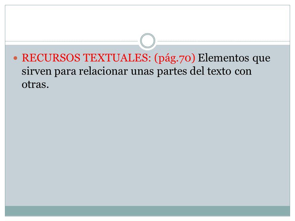 RECURSOS TEXTUALES: (pág