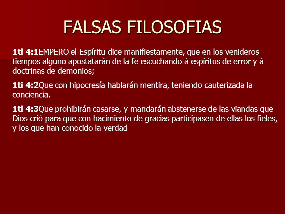 FALSAS FILOSOFIAS