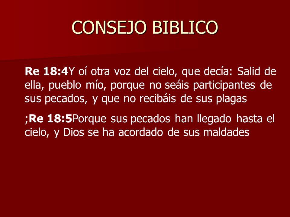CONSEJO BIBLICO